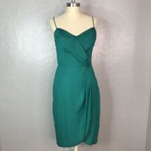 Banana Republic Spaghetti Strap Green Dress